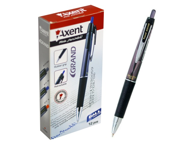 Ручка шариковая автомат Axent Grand синяя 0.5мм AB1010-A