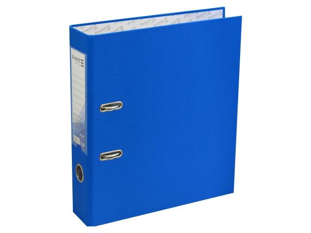 Регистратор  А4/75 Axent голубой с металлической окантовкой D1714-07