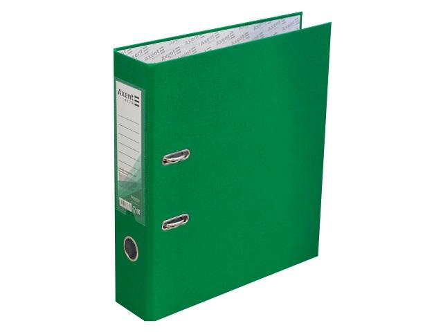 Регистратор  А4/75 Axent зеленый с металлической окантовкой D1714-04