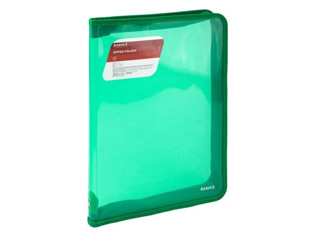 Папка на молнии А4 Axent зеленая 1801-26-A