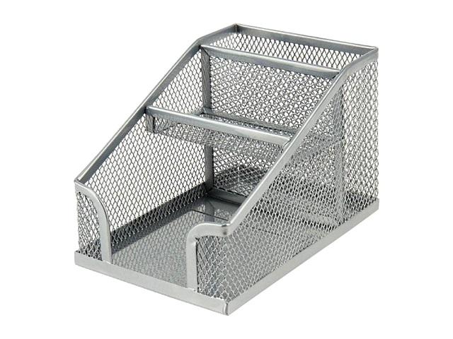 Подставка-органайзер Axent 3 отделения металл сетка серая 2118-03-A