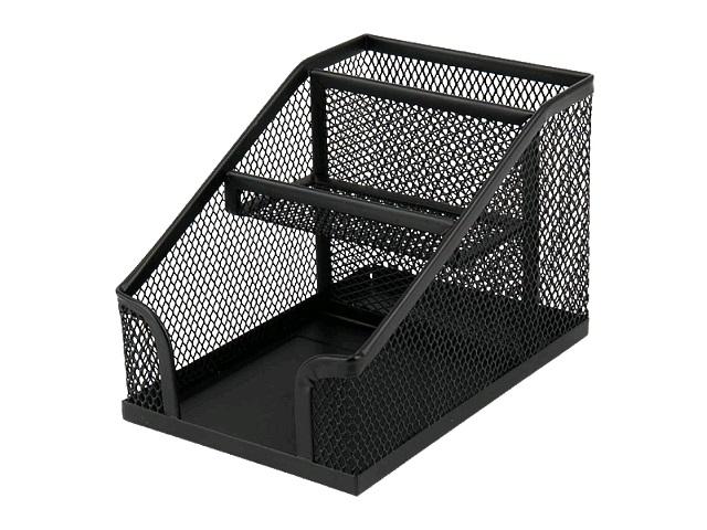 Подставка-органайзер Axent 3 отделения металл сетка черная 2118-01-A