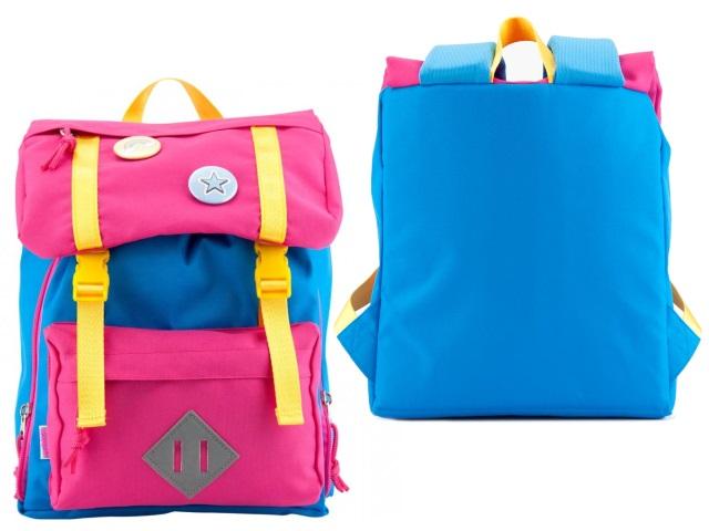 Рюкзак детский Kite Значки 26*24*11см розово-голубой K18-543XXS-2
