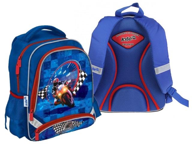 Ранец школьный Kite Motocross 38*29*13см синий K18-517S