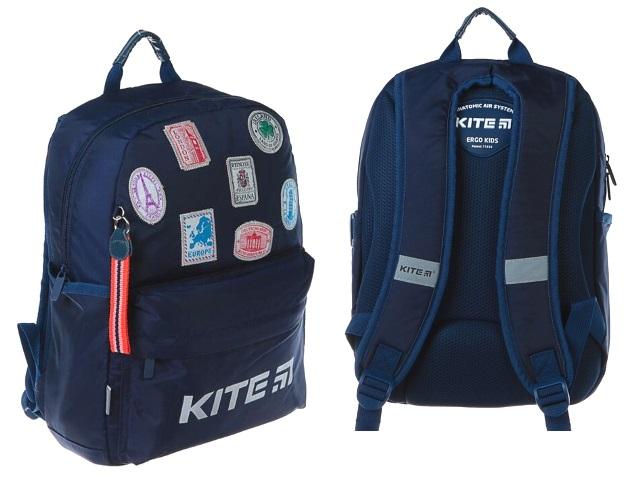 Ранец школьный Kite Trips 38*26*11см синий K19-719M-3
