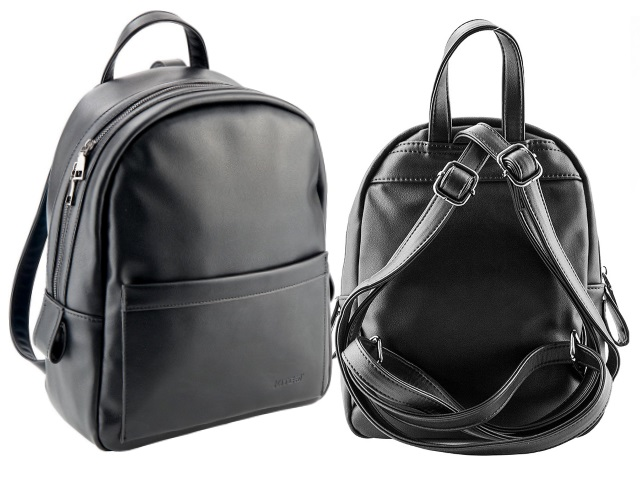 Рюкзак кожзам Kite 27*22*10см черный K18-2544-2
