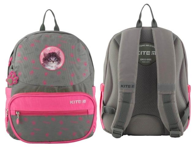 Ранец школьный Kite Meow 37*29*13см серо-розовый R19-739S