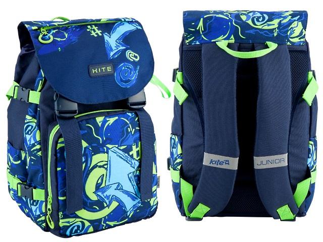 Рюкзак Kite Junior 27*40*21см сине-зеленый K18-817M-1