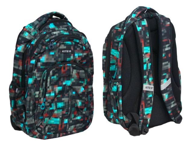 Рюкзак Kite Пиксели 44*31.5*14см серый K19-903L-1