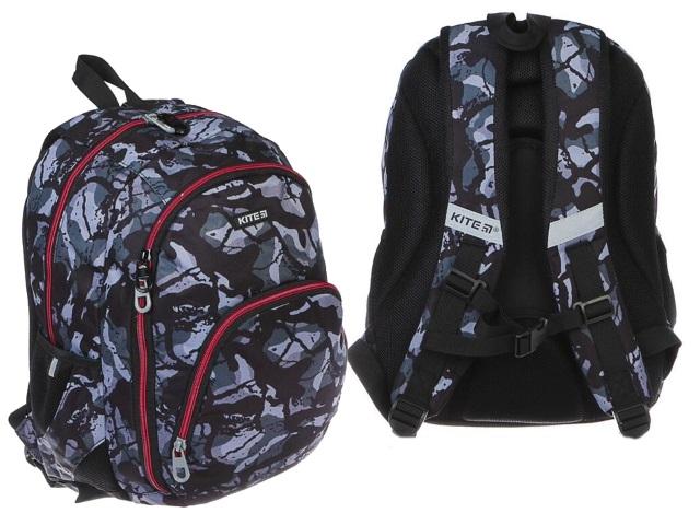 Рюкзак Education 42*32*13см серый камуфляж Kite K19-905M-2