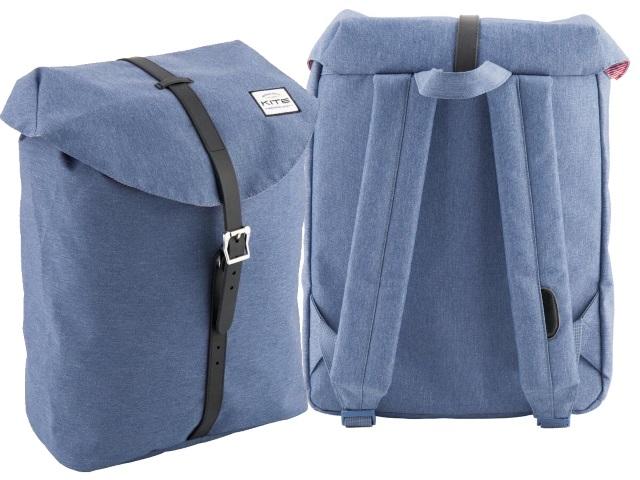 Рюкзак Kite Urban 28*42*13.5см серо-голубой K18-859M