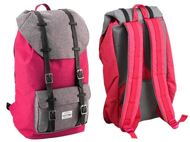 Рюкзак Kite Urban 28.5*48*17см серо-розовый K18-860L-2
