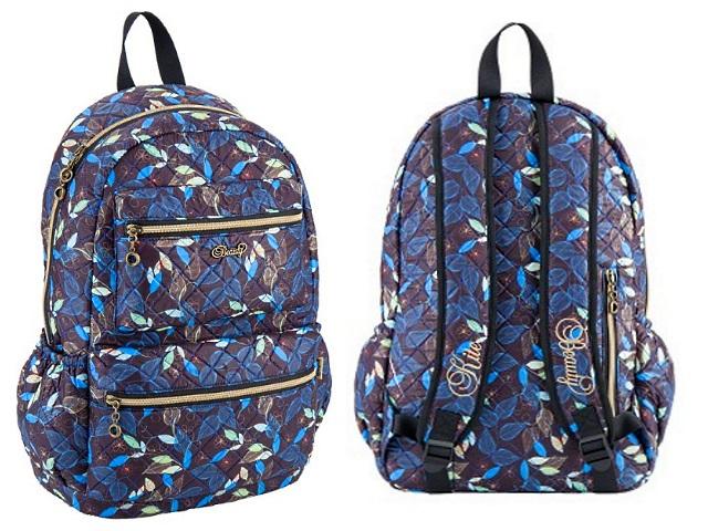 Рюкзак Kite Beauty 30*44.5*15см Листочки K18-884L-1