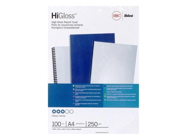 Обложки для брошюровки картон А4 GBC белые 100 шт. 129200