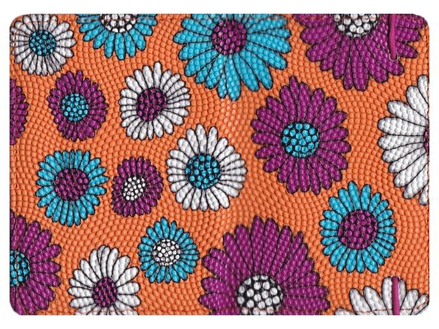 Обложка для паспорта кожзам на резинке Цветы J.Otten 6078
