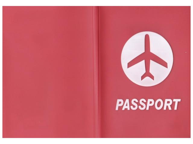 Обложка для паспорта силикон Passport красная J.Otten 8967-2