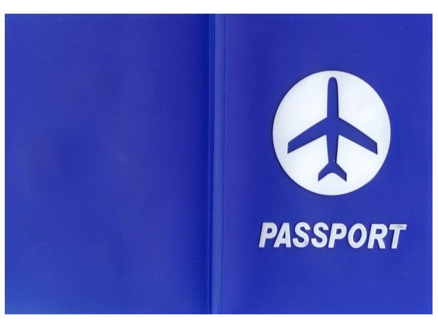 Обложка для паспорта силикон Passport синяя J.Otten 8967-3