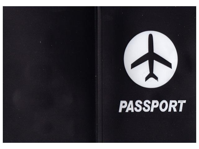 Обложка для паспорта силикон Passport черная J.Otten 8967-4