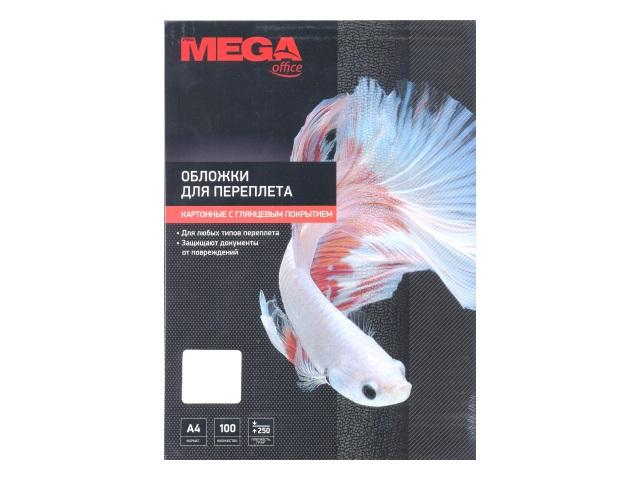 Обложки для брошюровки картон А4 ProMega белые глянцевые 100 шт. 254610