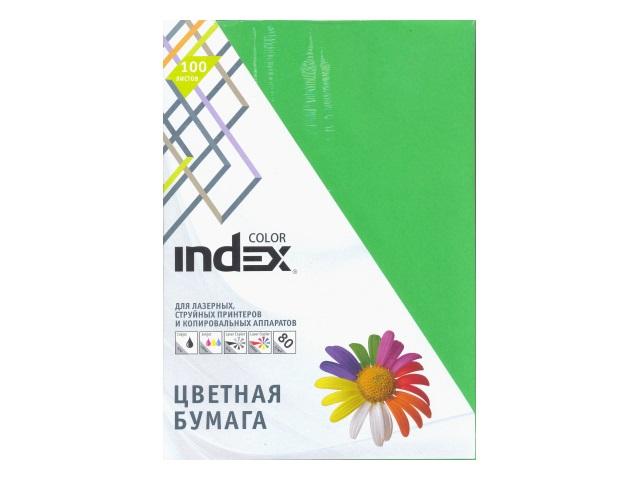 Бумага А4  80 г/м2 (4 цвета по 25л) 100 л. Index A29521