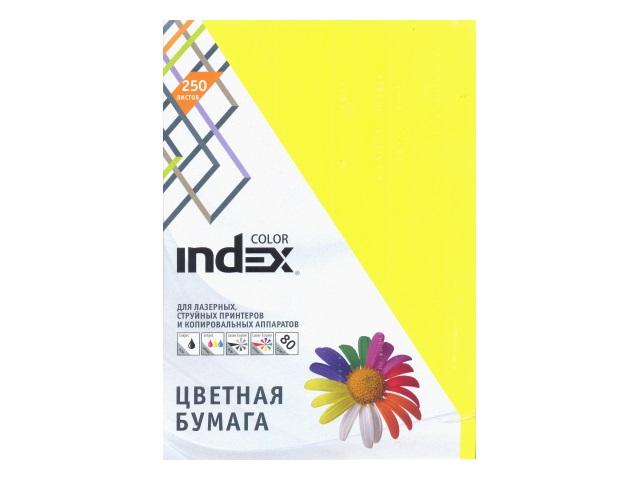 Бумага А4  80 г/м2 (5 цветов по 50л) 250 л. Index 23593