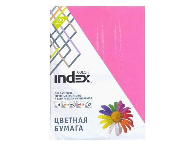 Бумага А4  80 г/м2 100 л. Index интенсив ярко-розовый IC22/100