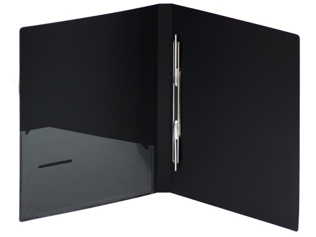 Папка-скоросшиватель с карманом А4 Axent 0.5мм черная 1304-01-A