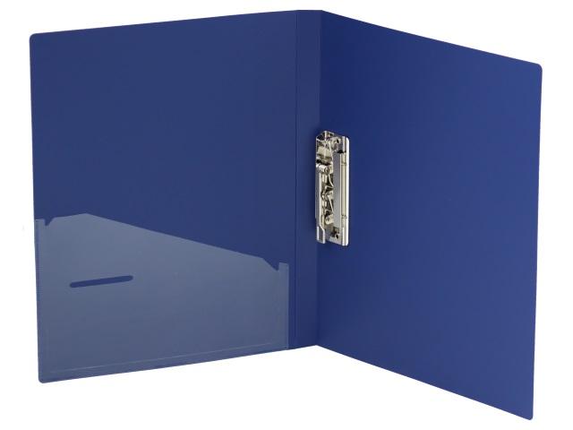 Папка с зажимом и карманом А4 Axent синяя 1301-02-A