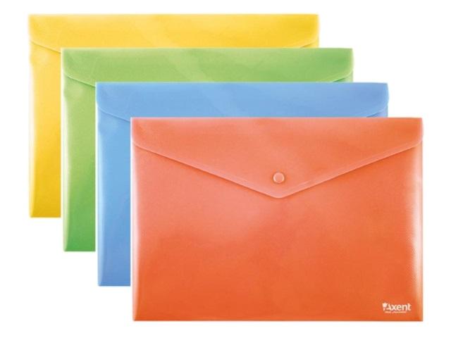 Папка конверт на кнопке В5+ Axent цветная 1413-20-A