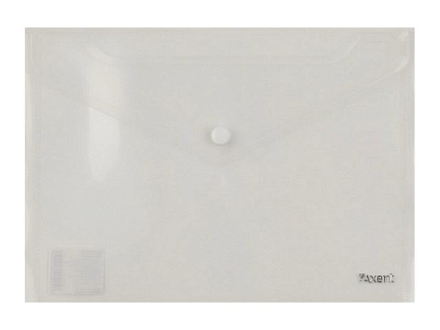 Папка конверт на кнопке А5 Axent Delta белая прозрачная 1522-27