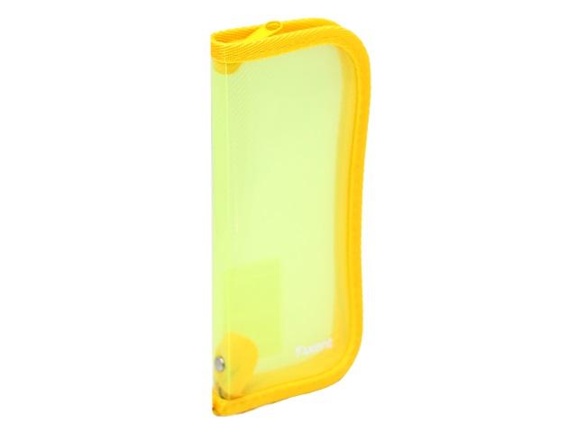 Пенал-косметичка Axent пластик прозрачный желтый 1803-25-А