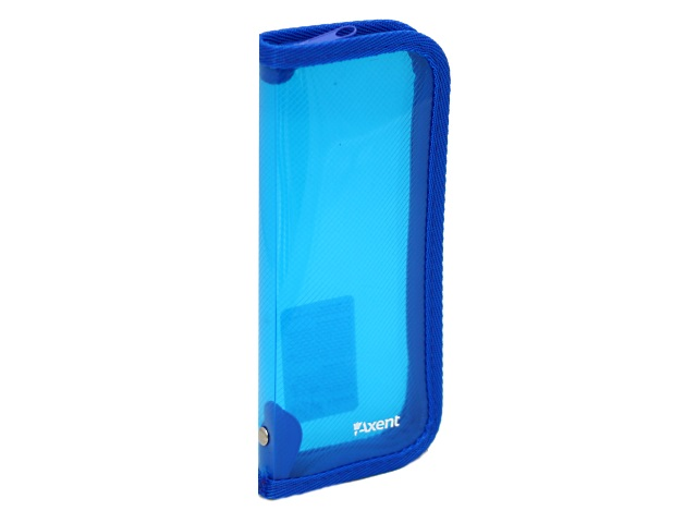 Пенал-косметичка Axent пластик прозрачный синий 1803-22-А