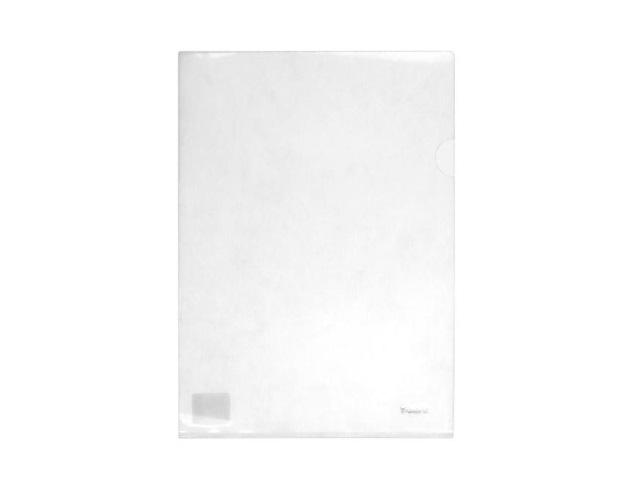 Уголок А4 180мкм Axent прозрачный белый 1434-27-A