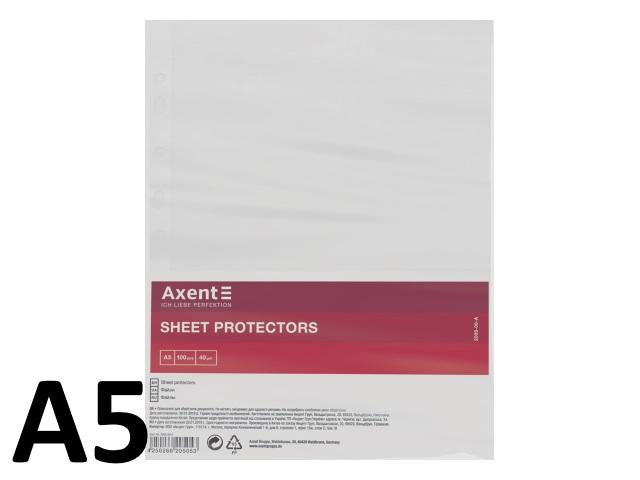 Файлы А5 40мкм 100шт Axent глянцевый 2005-00-A