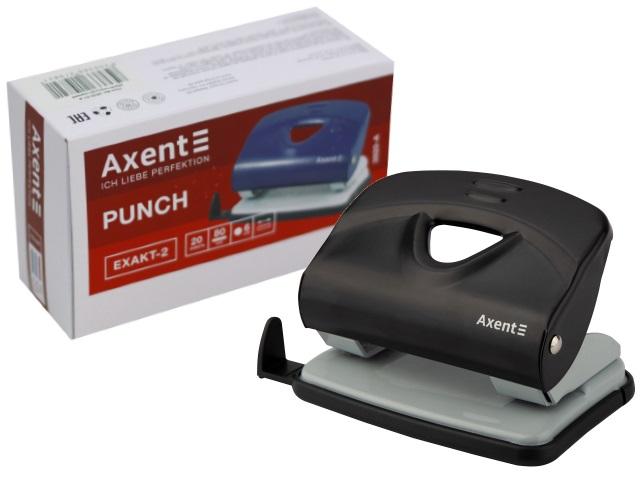 Дырокол на  20л Axent металл Exakt-2 черный 3920-01-A