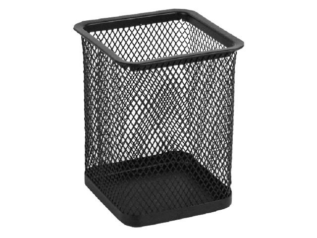 Стакан для ручек металл Axent сетка черный квадратный 2111-01-A