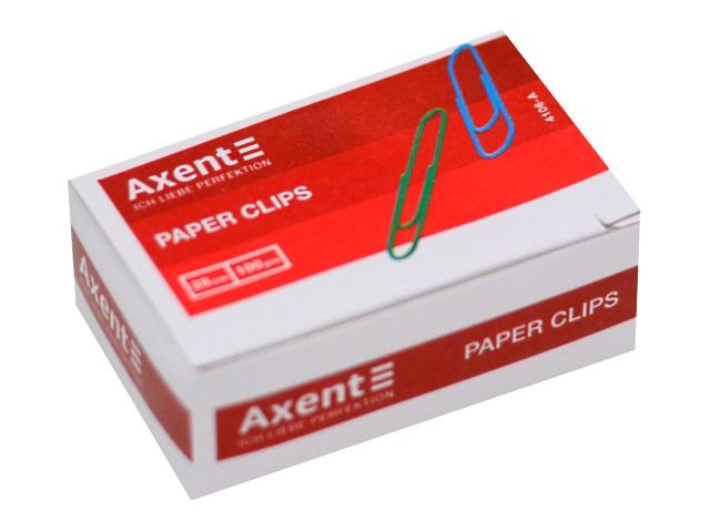 Скрепки Axent 28мм 100шт цветные 4106-A