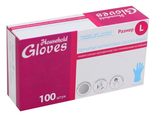 Перчатки нитриловые 100 шт. Glovec размер L