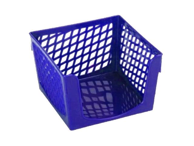 Бокс для бумаги 9*9*7 см Mazari пластик фиолетовый M-16015