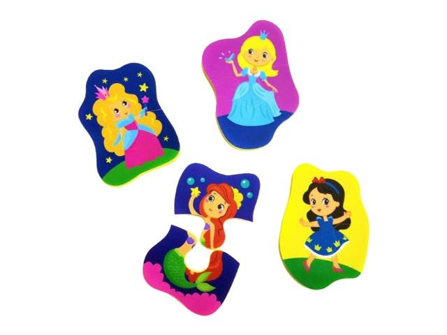 Пазлы мягкие Maxi 4в1 Волшебные принцессы MPZ27091