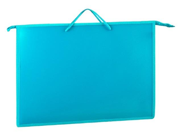 Папка на молнии А3 345*465*50мм с карманом голубая ПР3 10223