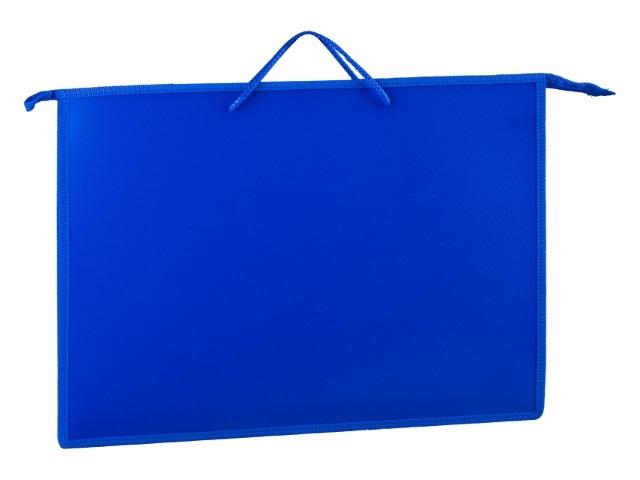 Папка на молнии А3 с ручками синяя ПР3 11075