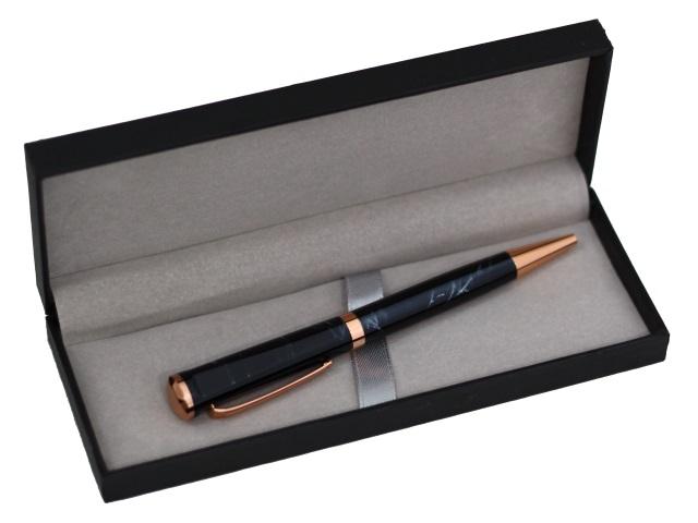 Ручка шариковая поворотная Mazari Storm M-7392-70 металл синяя 0.7мм в футляре