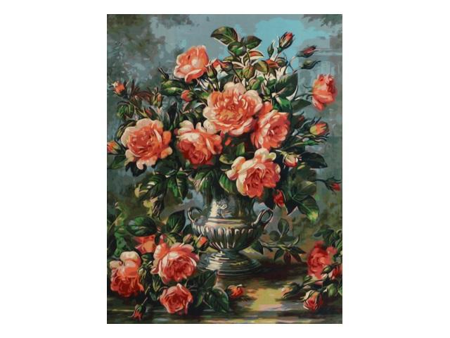 Картина по номерам 40*50см Цветы Mazari М-10075
