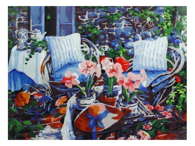 Картина по номерам 40*50см Цветочная композиция Mazari М-10103