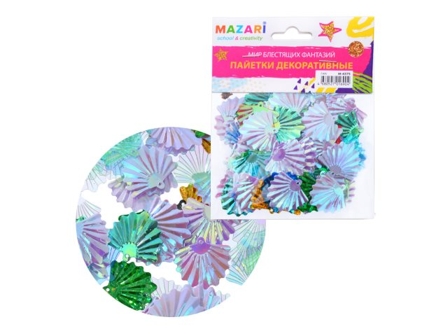 Декоративные элементы Пайетки Fan Mazari M-4375