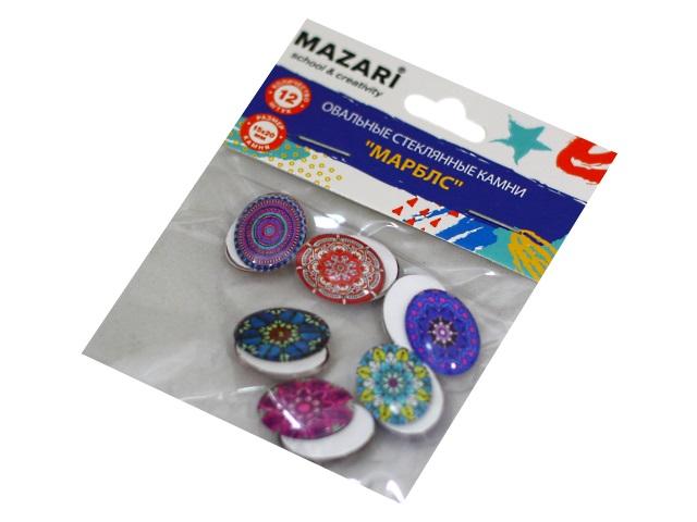 Декоративные элементы Камни Марблс овальные 12 шт. 15*20мм Mazari M-4444