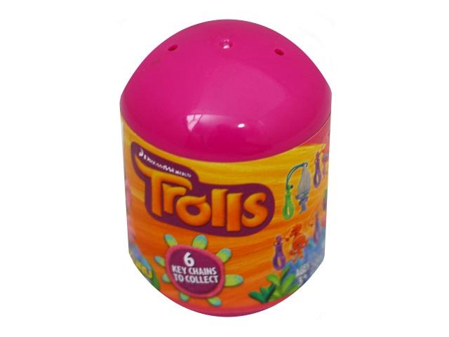 Мягкая игрушка Тролль-сюрприз с брелком ассорти 6001