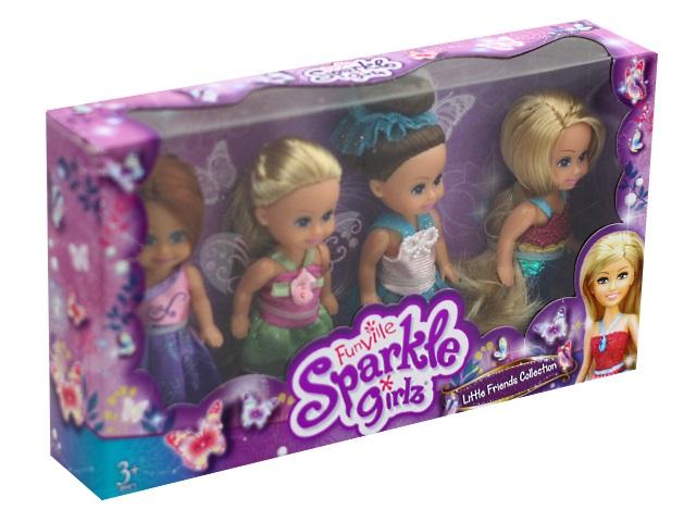 Куклы 4 шт. Sparkle Girlz 11см Funville 24044