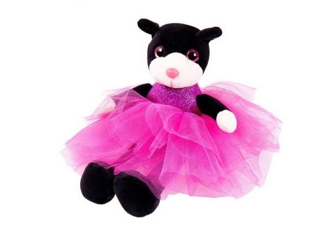 Мягкая игрушка Кошка 20см в платье с пайетками ABToys M097/2